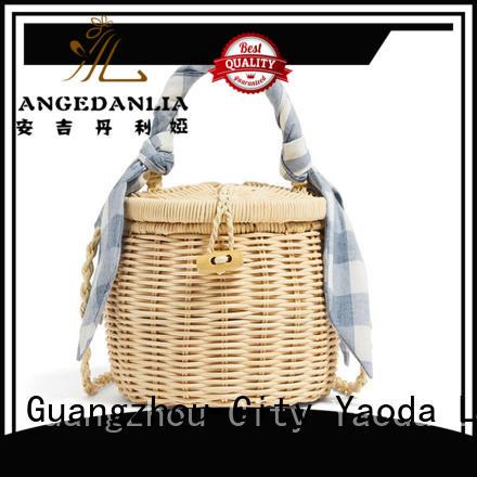 fashion straw bucket bags gourd online for girls